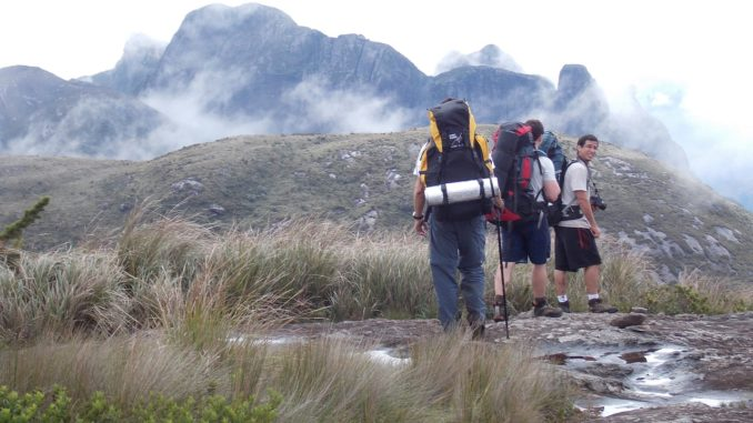 Rucksackreisen in den Bergen