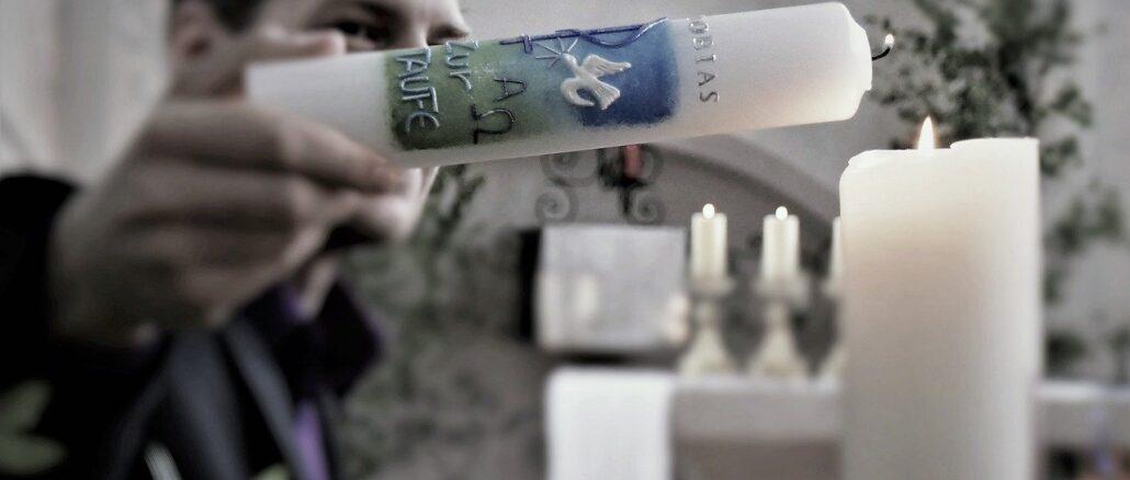Kerzen für Taufe und Hochzeit