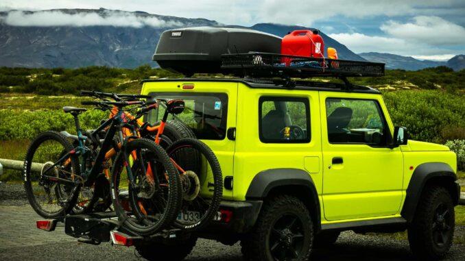 Fahrradträger an Auto